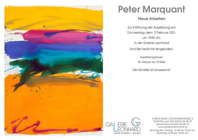 Peter Marquant exhibition in Graz
