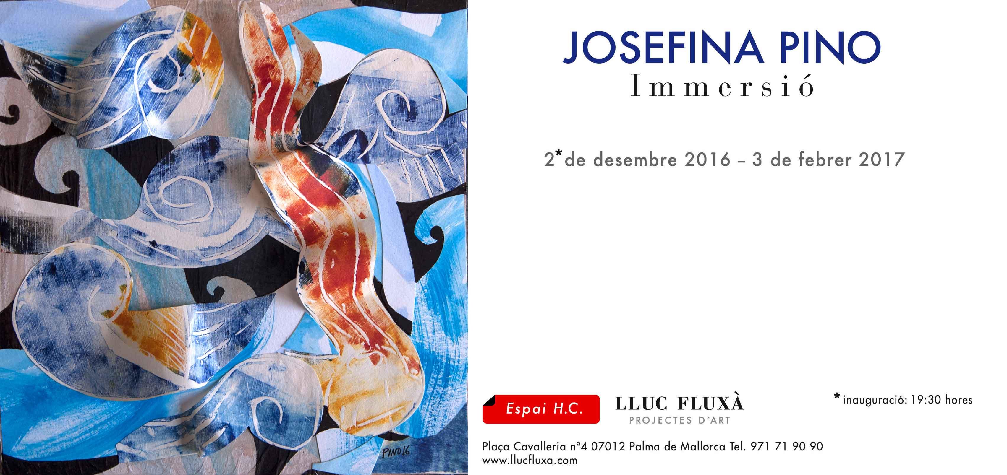 Exposición Immersió-Espai lluc Fluxà Hc- Palma de Mallorca