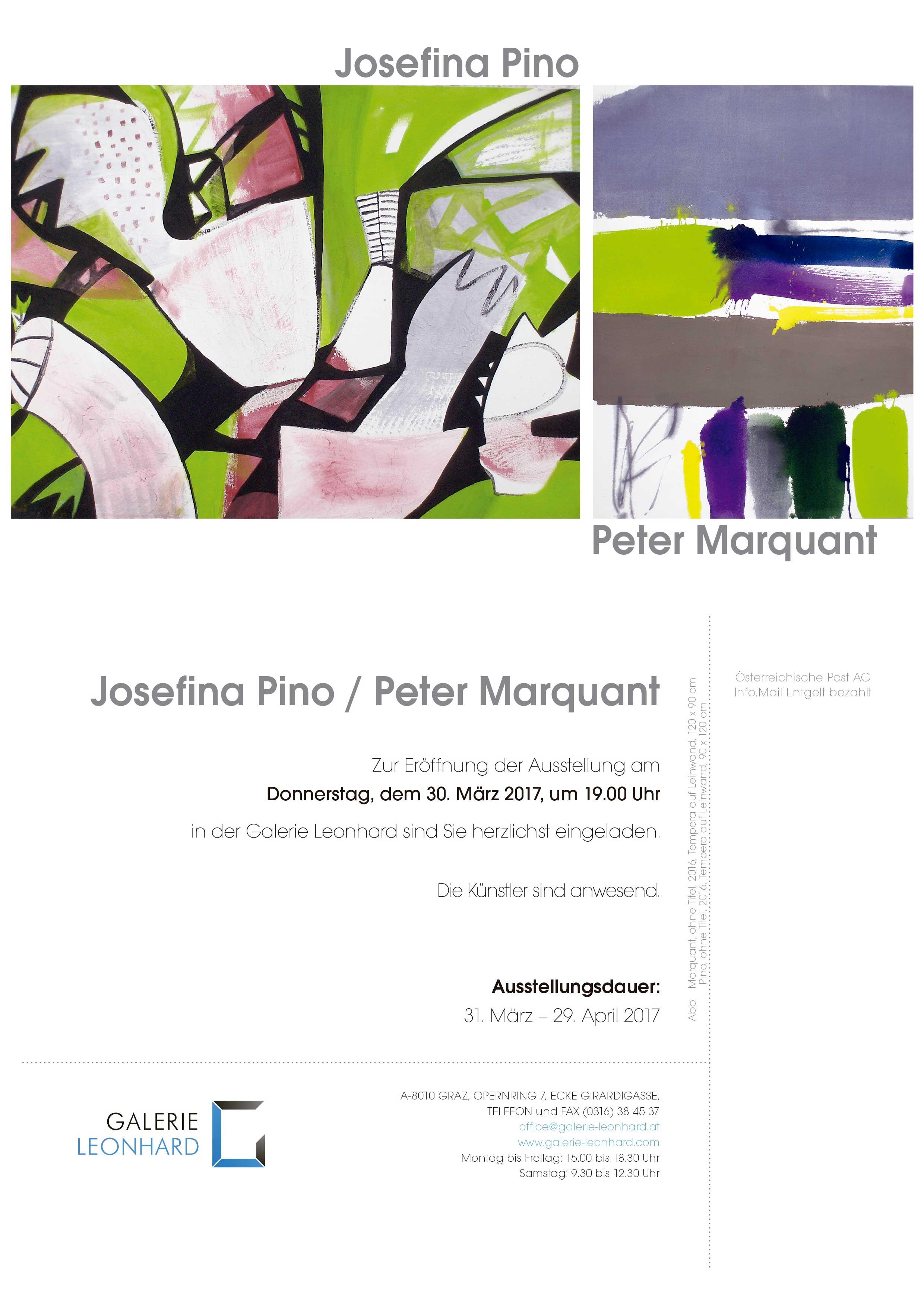 Exposición Josefina Pino-Peter Marquant- Galerie Leonhard-Graz