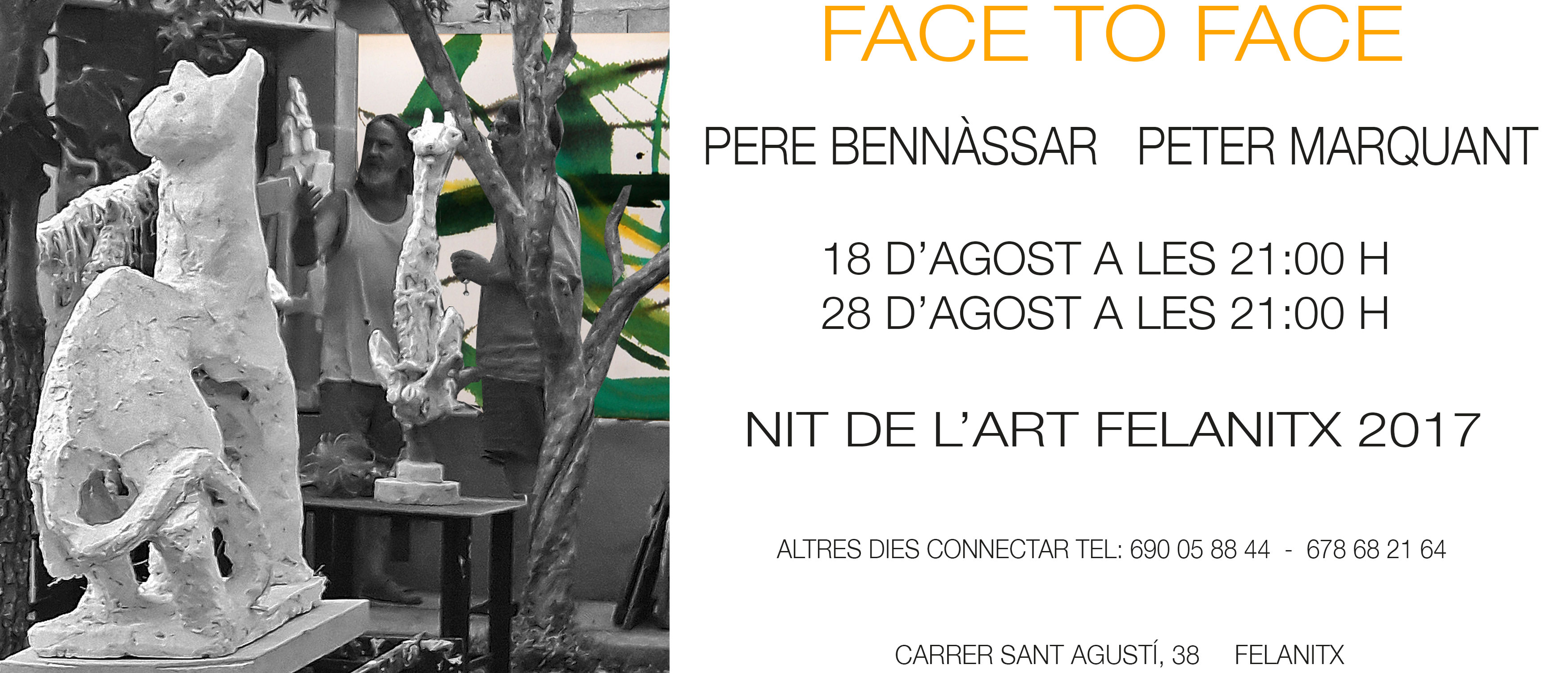 FACE to FACE Pere Bennàssar Peter Marquant Felanitx 2017