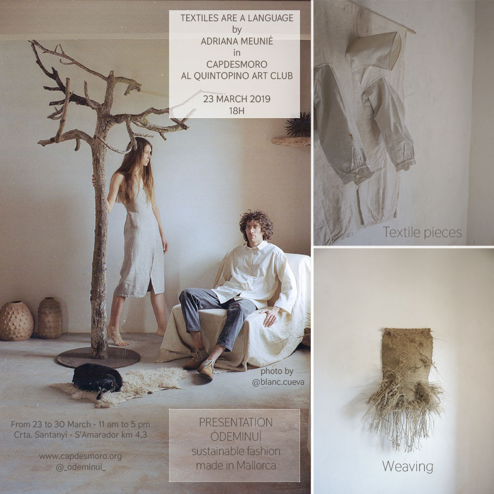 Exposición Adriana Meunié, Textiles are a language - del 24.04-30.04 2019- Inauguración 23 de marzo a las 18h