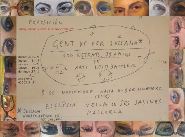 Arti Leimbacher presenta  la exposición 'Gent de per Jussana - 100 retrats 99 amics'